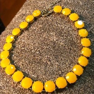 Vintage J Crew Yellow Glass Stone Necklace